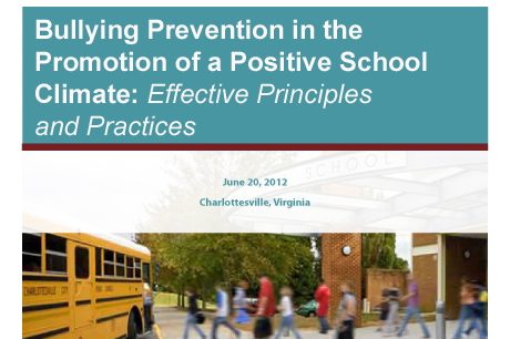 Bullying Prevention conference slide